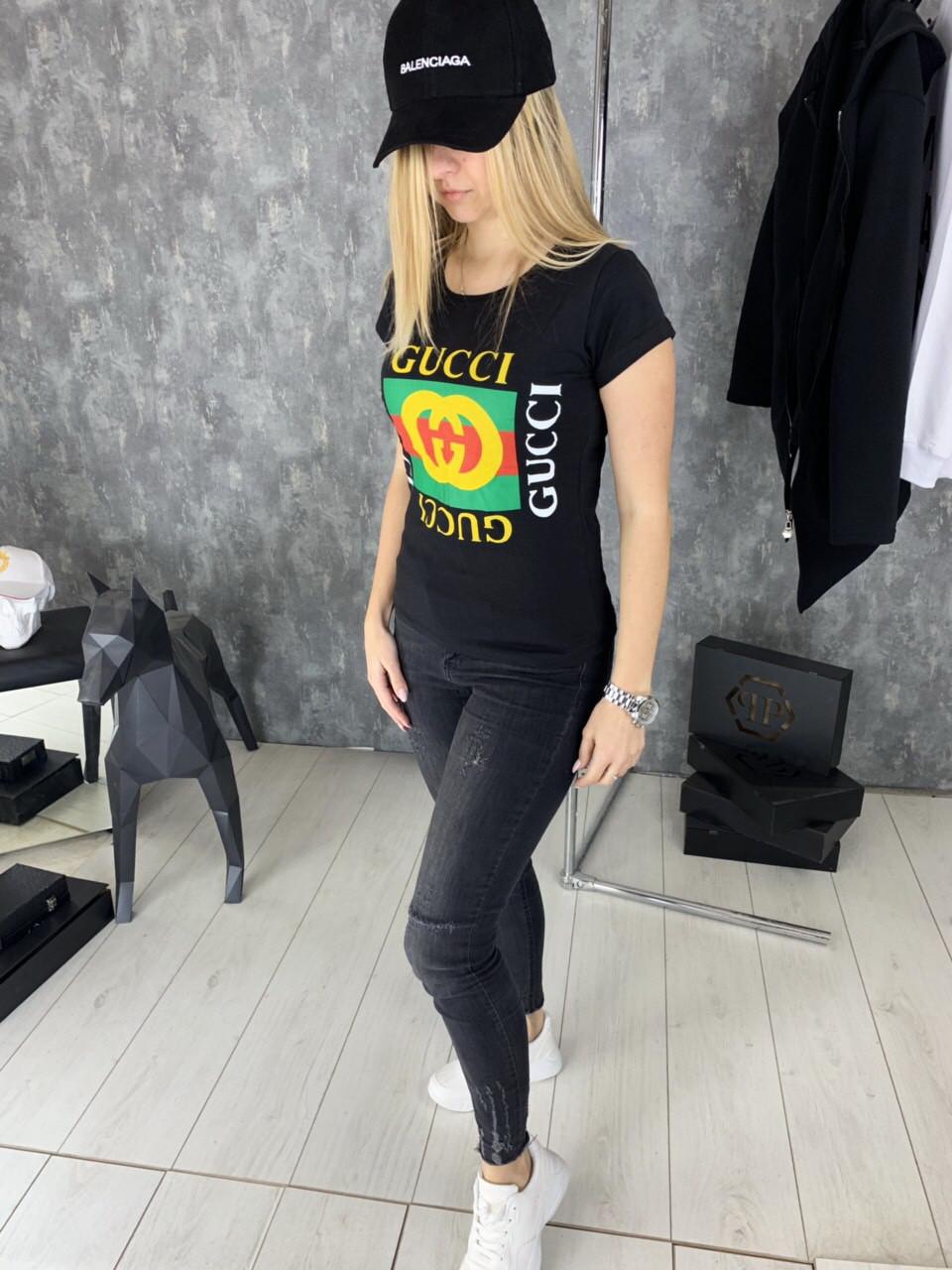 Футболка женская Gucci D2028 черная