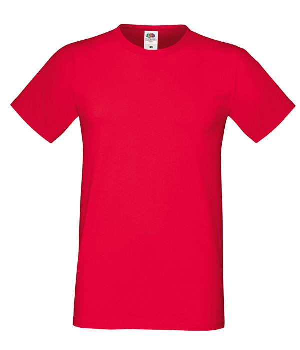 """Мужская футболка """"Хлопок"""" M, 40 Красный"""