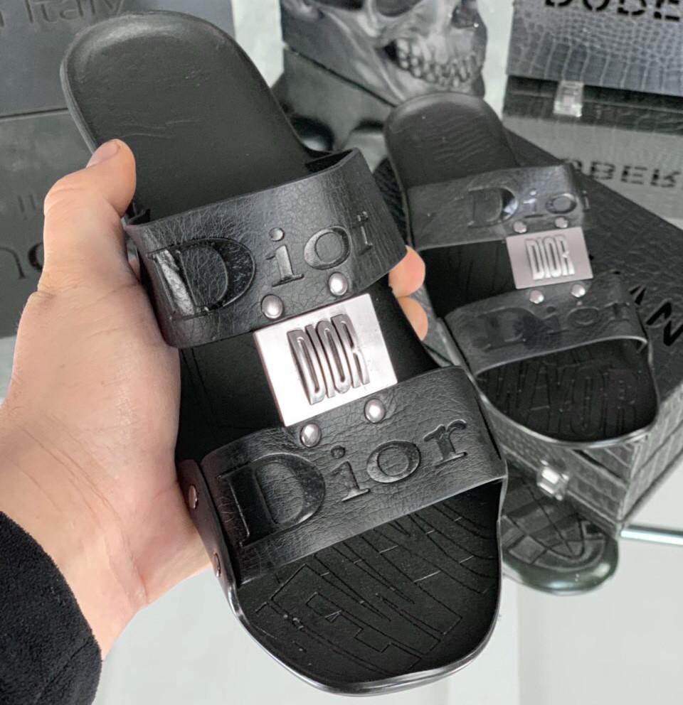 Шлепанцы мужские Dior D1701 черные