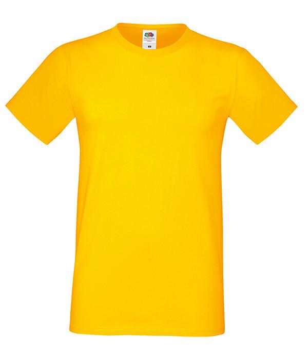 """Мужская футболка """"Хлопок"""" XL, 34 Солнечно Желтый"""