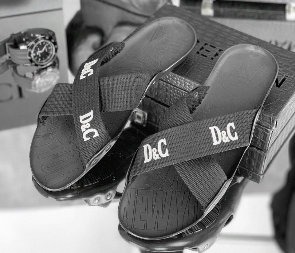 Шлепанцы мужские Dolce & Gabbana D1702 черные