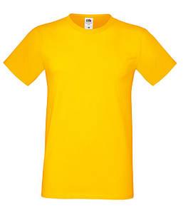 """Мужская футболка """"Хлопок"""" 3XL, 34 Солнечно Желтый"""