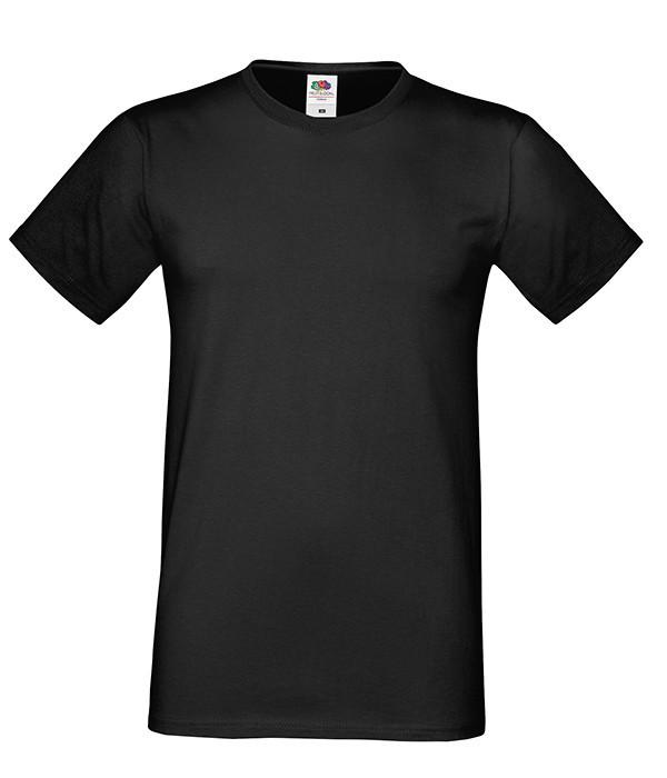 """Мужская футболка """"Хлопок"""" 5XL, 36 Черный"""