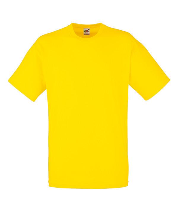"""Мужская футболка """"Хлопок"""" L, K2 Желтый"""
