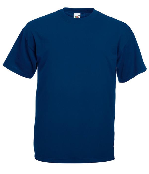 "Мужская футболка ""Хлопок"" 4XL, 32 Темно-Синий"