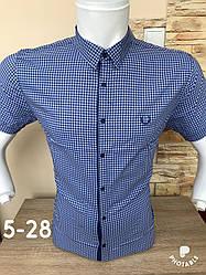 Рубашка в клетку Black Stone с коротким рукавом