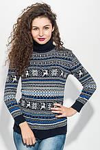 Свитер, свитер женский  стильный 373F006-2 (Сине-серый)