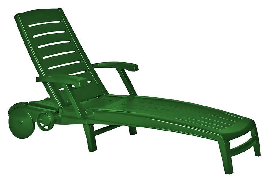 Шезлонг Sparta, зеленый