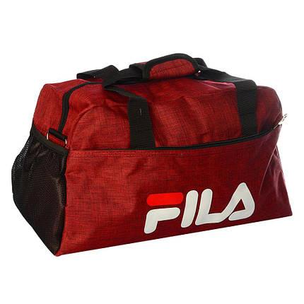 Спортивная сумка Fila средняя (красная) , фото 2