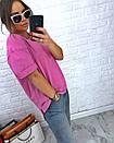 Свободная женская футболка со спущенным плечом 3ma188, фото 2