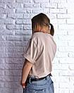 Свободная женская футболка со спущенным плечом 3ma188, фото 3