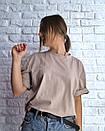 Свободная женская футболка со спущенным плечом 3ma188, фото 4