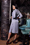 Женское стильное платье-рубашка в полоску ( в расцветках), фото 3