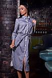 Женское стильное платье-рубашка в полоску ( в расцветках), фото 5