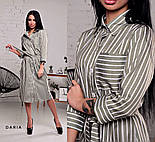 Женское стильное платье-рубашка в полоску ( в расцветках), фото 7