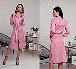 Женское стильное платье-рубашка в полоску ( в расцветках), фото 9