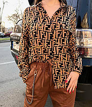 Рубашка женская Zara цепи (цвет мокко)