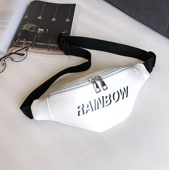 Стильная поясная сумка бананка Rainbow