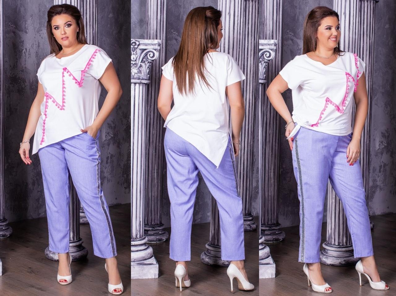 Летняя женская футболка из трикотажа в больших размерах 53ba1629