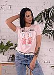 """Женская стильная футболка """"Кеді"""" (в расцветках), фото 3"""