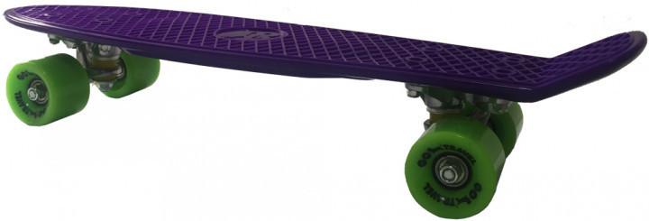 Скейт GO Travel 56 см Фиолетовый с зелеными колесами (LS-P2206PGS)