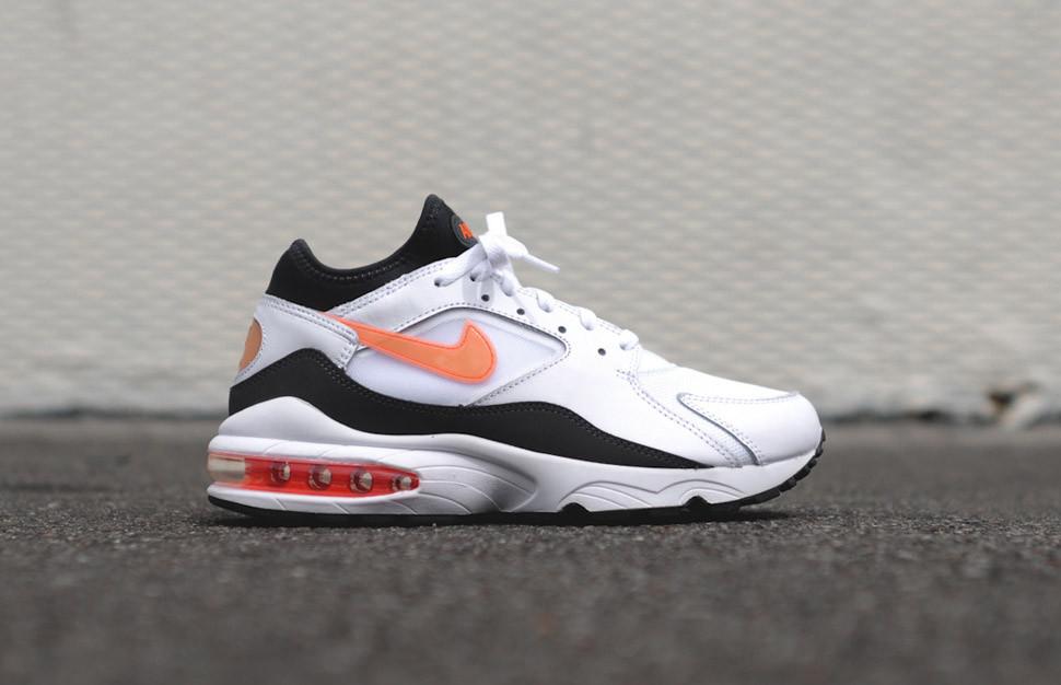 """Кроссовки Nike Air Max 93 """"Белые\Черные"""""""
