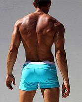 Мужские пляжные шорты AQUX бирюзового цвета,плавания, купания чоловічі шорти плавання купання бірюзові, фото 2