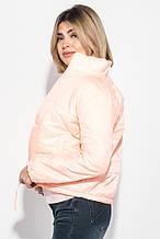 Куртка женская однотонная, с карманами 72PD153 (Персиковый)