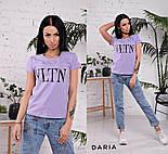 """Женская стильная футболка """"VLTN"""" (в расцветках), фото 3"""