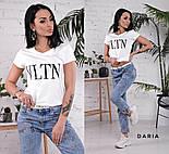 """Женская стильная футболка """"VLTN"""" (в расцветках), фото 4"""