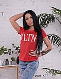 """Женская стильная футболка """"VLTN"""" (в расцветках), фото 6"""