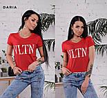 """Женская стильная футболка """"VLTN"""" (в расцветках), фото 9"""