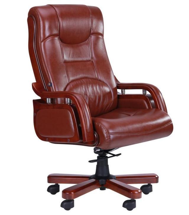 Кресло Ричмонд, кожа коричневая (642-B+PVC)