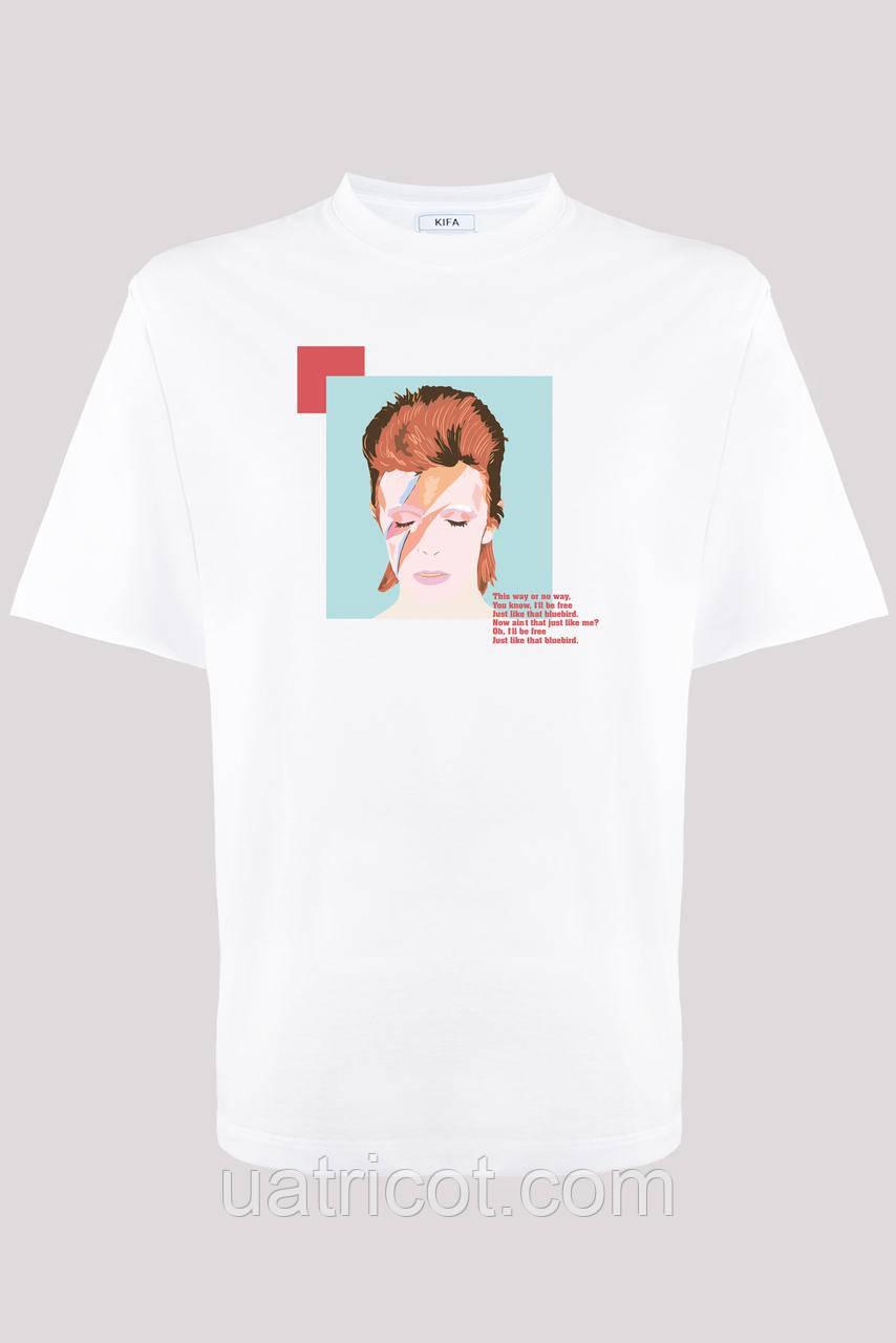 Футболка мужская KIFA ФМХ-019/15 David Bowie белая