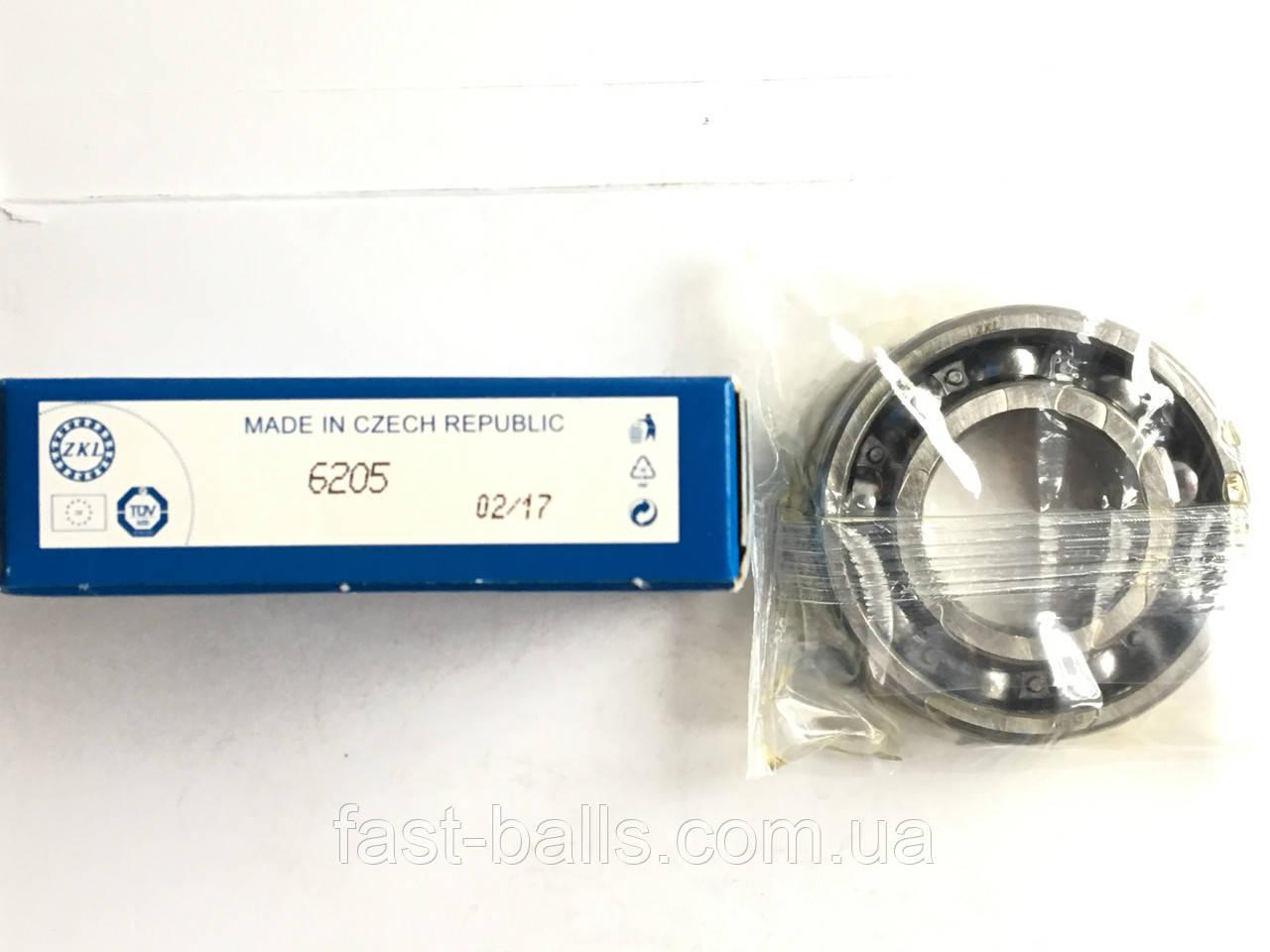 Подшипник ZKL 6205 (25x52x15) однорядный