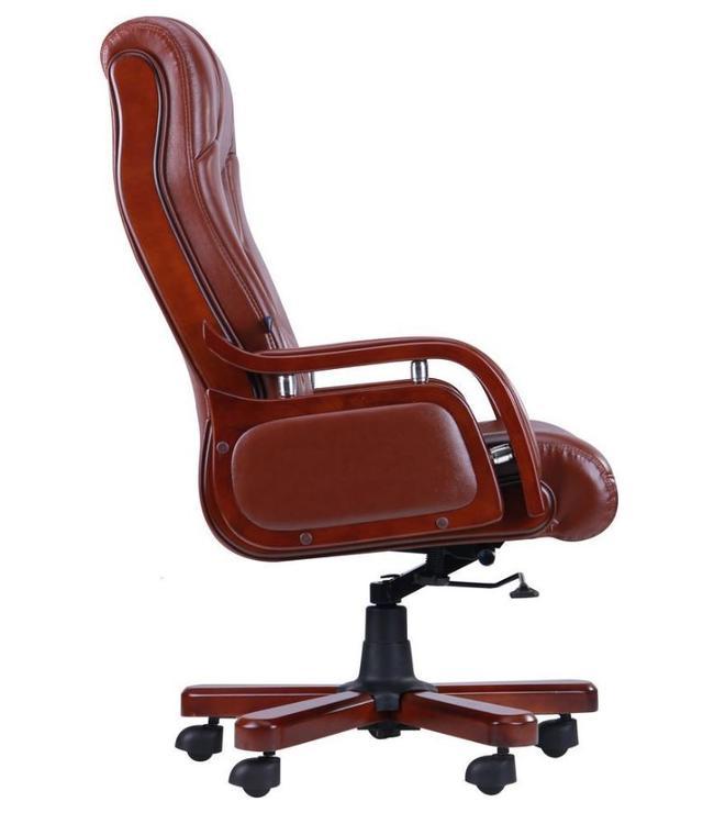 Кресло Ричмонд, кожа коричневая (642-B+PVC) фото 2
