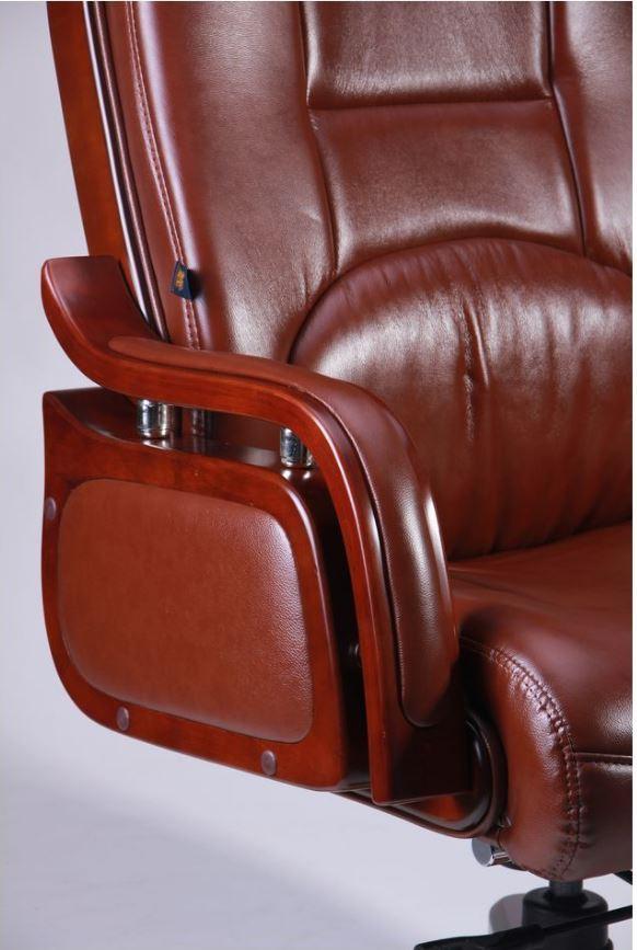 Кресло Ричмонд, кожа коричневая (642-B+PVC) фото 5