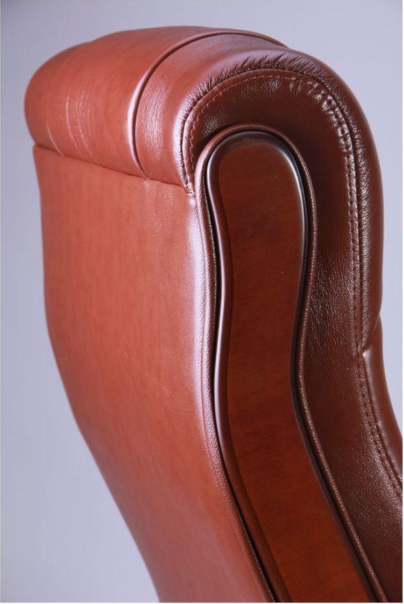 Кресло Ричмонд, кожа коричневая (642-B+PVC) фото 6