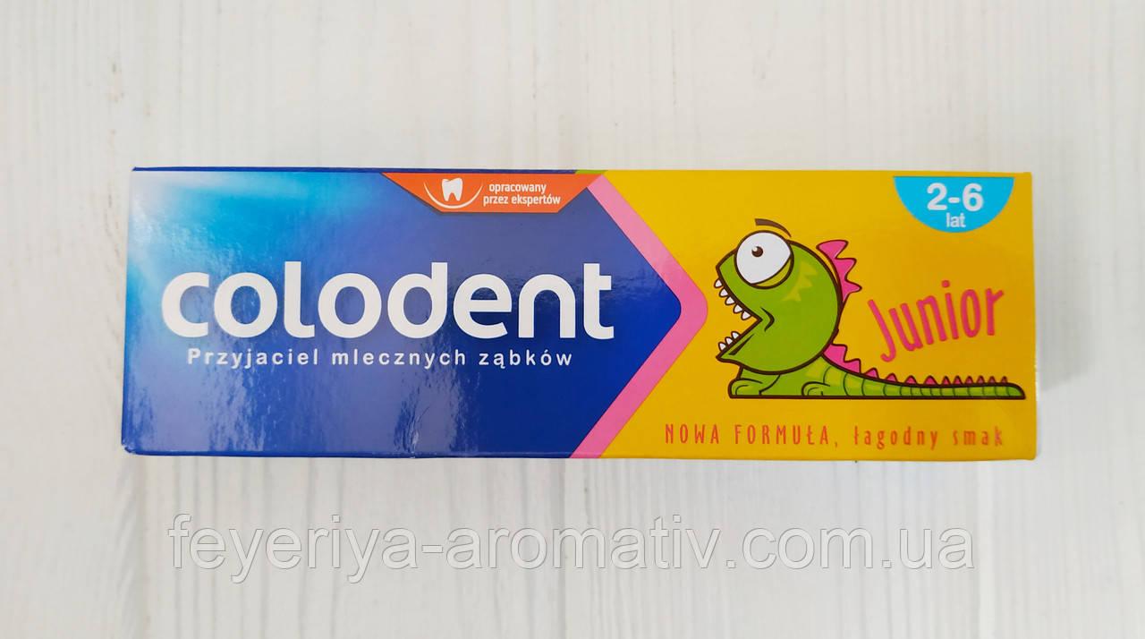 Детская зубная паста Colodent Junior 2-6 (Польша)