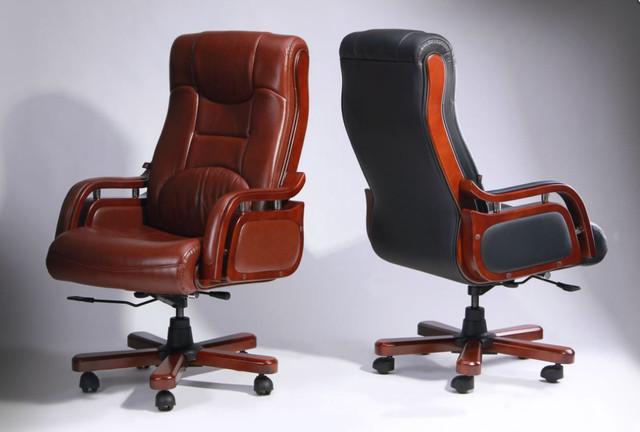 Кресло Ричмонд, кожа коричневая (642-B+PVC) фото 14