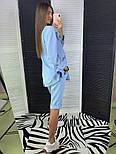 Женский стильный костюм: удлиненный пиджак и удлиненные шорты-бриджи (в расцветках), фото 6
