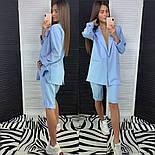 Женский стильный костюм: удлиненный пиджак и удлиненные шорты-бриджи (в расцветках), фото 10