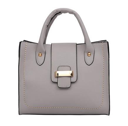 Стильная повседневная женская сумка с пряжкой, фото 2