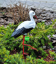 Садовая фигура Аист малый на металлических лапах, фото 3