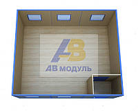 Модульное здание, блок-контейнер, мини-офис проект ЕВРО-3