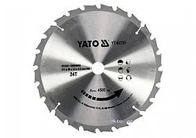 Диск пильный по дереву YATO 315 х 30 х 3.5 х 2.5 мм 24 зубца R.P.M до 4500 1/мин