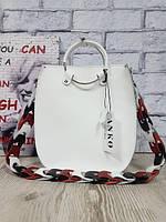 Оригинальная сумка из натуральной кожи, белая матовая 1710, фото 1