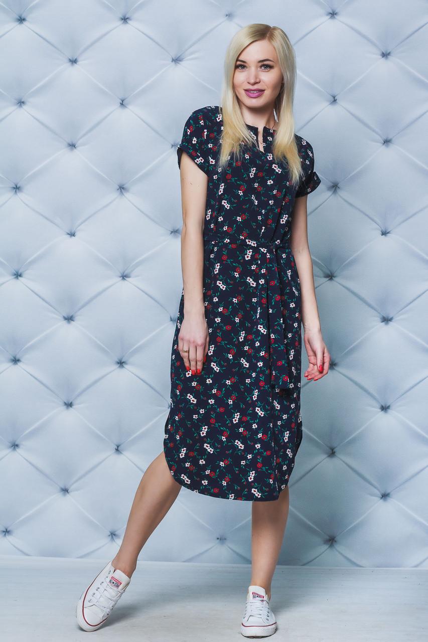 Платье летнее миди Цветы