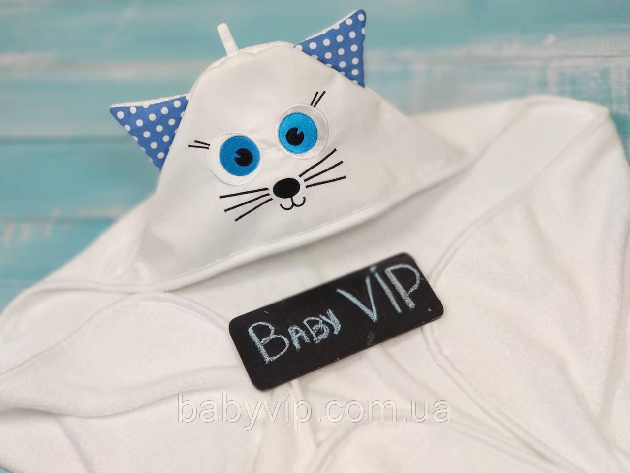 Детское банное полотенце котик