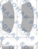 Колодки тормозные передние Fomar MITSUBISHI L200 2.5TD 4WD,PAJERO 2.5TD,2.8TD,3.0LV6 90-99,PAJERO SPORT 2.5TD
